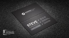 Dark Minimal Typography Business Card Template