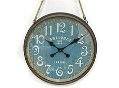 Distressed Round Metal Clock - $99.99