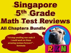 Singapore 5th Grade Math Test Review Bundle. This bundle includes a test review for all 15 chapters, the 2 Benchmark Assessments, and the Mid Year and End of Year Tests.  by Nygren Resources.