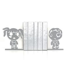 Zombie book ends Kawaii Zombie apocalypse geek Kids bookends Home decor Book shelf decor Teen room decor Book lover gifts Dorm decor  - gray by ElvishThingsHome on Etsy