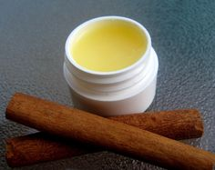 Homemade Lip Balm - melt 2 tsp of beeswax and 2 1/4 tsp of jojoba oil in a double boiler and stir until compeletely mixed. Take off heat and add in six drops of edible oil, and then pour into container. Let cool for 20 minutes.