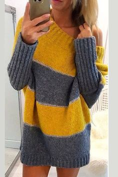Leicht 30 Knitted Women Pullover That Make You Look Cool Women Pullover, Knitting Pullover, Plus Size Sweaters, Casual Tops For Women, Knitted Blankets, Sweater Fashion, Crochet Clothes, Pulls, Long Sleeve Sweater, Knitwear