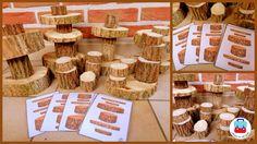 Boomstamtorens bouwen  Uitleg kan je lezen op  http://jolienindeklas.weebly.com/