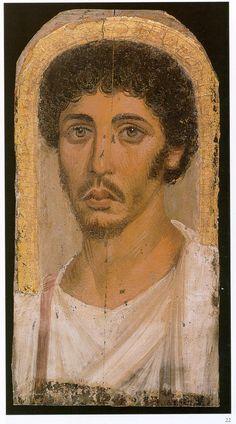 Fayum mummy portrait in Egypt during Roman occupation