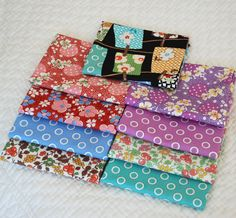 """Custom Fat Quarter Bundle from the """"Feedsack III"""" collection by Nauvoo Quilt Co. Collection designed by Sara Morgan for Blue Hill Fabrics. Cotton Fabric 1930s 1940s Reproduction."""