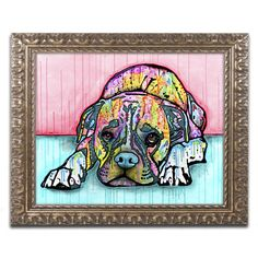 Trademark Art 'Lying Boxer' by Dean Russo Framed Graphic Art Size: 1