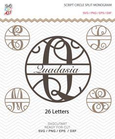 Circle Script Split Alphabet SVG PNG DXF eps Vine Font, Vinyl Decal Cut File Cricut Design Silhouette studio,  Make the Cut Download by SvgCutArt on Etsy