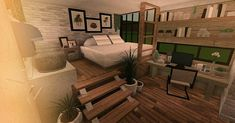Two Story House Design, Tiny House Layout, Unique House Design, Dream Home Design, House Layouts, Modern Family House, Family House Plans, Bedroom House Plans, Cute Room Ideas
