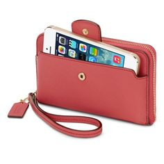 Coach Saffiano Zip-Around Wallet for iPhone - Apple Store (U.S.)