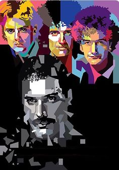 This is another version of Queen. I Hope You all enjoy it. The Queen in WPAP Pop Rock, Rock And Roll, Queen Banda, Pop Art Portraits, Queen Art, Queen Freddie Mercury, Killer Queen, Rock Posters, Rock Legends