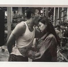 "sintras: "" Liv Tyler and Ben Affleck on the set of Armageddon circa. 1998 ✨ """