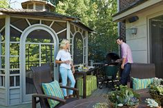 Christian Ponder and Samantha Ponder's Excelsior home's patio. Photo by Susan Gilmore