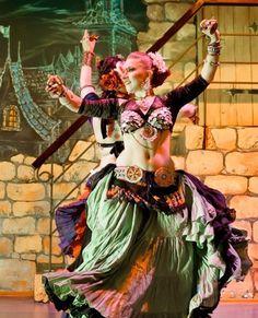 American Tribal Style (love the saye goshe style belt the green skirted dancer is wearing)
