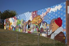 18 x 24 Art Canvas Print of Mural corner of Barry Pl. and Sherman Ave. NW Washington D.C. r93 2010 by Highsmith, Carol M.,