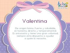 valentina spanish name