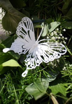 wedding centre piece Butterflys and Babys Breath