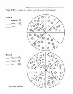 blackline fraction circles small labeled math worksheet freemath education pinterest. Black Bedroom Furniture Sets. Home Design Ideas