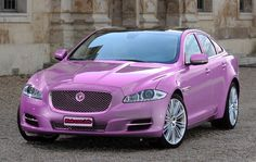 A pink Jaguar? WTF? I saw one of these on the 101 last week #WRONGJUSTWRONG