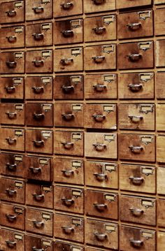 Just think of all you could store, cache, treasure, hide, pile... in all these drawers... :-) makes me dizzy