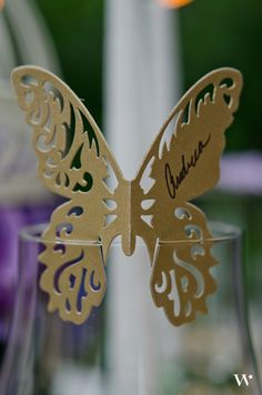 Theme your spring wedding table settings with our Laser Cut Butterfly Place Cards! Order yours today: http://www.weddingstar.com/product/laser-expressions-butterfly-die-cut-card-shimmer-paper