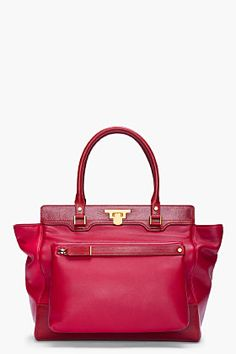 Lanvin bag in a berry hue