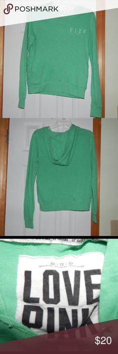 PINK hoodie Worn a few times, no holes or stains. Very cute! PINK Victoria's Secret Tops Sweatshirts & Hoodies