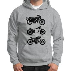 Cafe Racer Evolution Hoodie (Gildan)