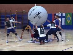 This youtube video shows students using the different types of Omnikin balls that are valuable to use in physical education settings. Large balls, like in the video, are lighter to use and give a greater surface area for  students that may not have the fine motor dexterity to handle smaller balls or items that may be too hard.