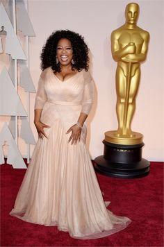 Oprah Winfrey in Vera Wang Oscar 2015