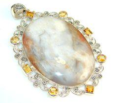 Big! Superior Quality Fancy Jasper Sterling Silver Pendant – Jewelry