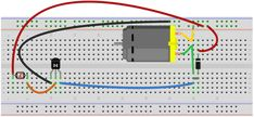 Light-actived Motor Circuit breadboard schematic