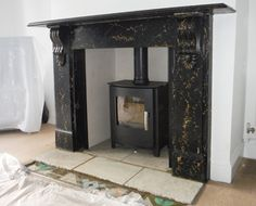 With this installation the customer choose to update their existing surround with a multi fuel stove.  Our HETAS fitters opened up the chimney breast to create the inglenook chamber with a stone hearth to complement the surround.  They then installed a solid fuel liner & the Churchill Defra approved stove to complete the look.