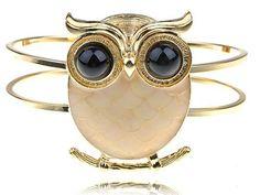 Gold Tone Peach Fat Body Hoot Wide Eye Night Perch Owl Bird Bracelet Cuff Bangle Alilang, http://www.amazon.com/dp/B00700Y6IK/ref=cm_sw_r_pi_dp_W1oYrb46E31141B9