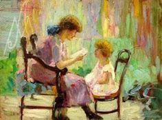 Albuquerque, Georgina de (1885-1962) Momento de leitura