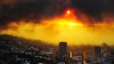 A general view shows a fire in Valparaiso, 110 km west of Santiago, Chile, on April 12, 2014
