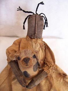 Primitive black doll pattern folk art doll by Dumplinragamuffin, $7.00