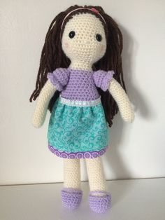 Isn't she adorable?! Amigurumi dolls, crochet dolls, crochet toys