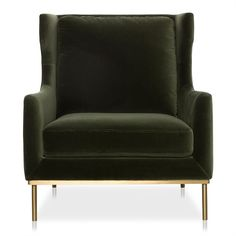 Shop the COOPER Velvet Armchair in Forest Green . This sofa is part of freedom's range of contemporary furniture. Shop online or in stores throughout Australia. Chair Upholstery, Fabric Sofa, Wingback Chair, Modular Couch, Ledoux, Velvet Armchair, Barrel Chair, Occasional Chairs, Brass Color