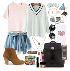 """""""back to school part 2"""" by sophiewb ❤ liked on Polyvore featuring House of Harlow 1960, H&M, Bling Jewelry, Topshop, Report, Red Herring, ALDO, Panacea, Yves Saint Laurent and Chanel"""