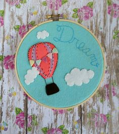 Hey, I found this really awesome Etsy listing at https://www.etsy.com/uk/listing/230033906/embroidery-hoop-art-hot-air-balloon