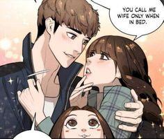 Webtoon App, Cute Anime Coupes, Anime Family, Webtoon Comics, Tsundere, Cute Comics, Angel Art, Anime Couples, Manhwa