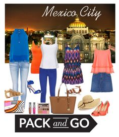 """""""Pack And Go: Mexico City"""" by summer913 ❤ liked on Polyvore featuring BKE, rag & bone/JEAN, Comptoir Des Cotonniers, Triya, Current/Elliott, WearAll, Vince Camuto, Aquazzura, Giuseppe Zanotti and MICHAEL Michael Kors"""