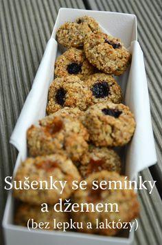 TynaTyna: Sušenky se semínky a džemem (bez lepku a laktózy) Healthy Cookies, Healthy Sweets, Healthy Recipes, Christmas Cookies, Gluten Free, Baking, Breakfast, Fitness, Blog