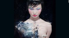 Chen Man collaborated with MAC cosmetics. She shot this photographer for its 'Love and Water' series in 2012.