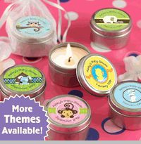 Candle Tins (Mini Travel Size) - Personalized Baby Shower Favors