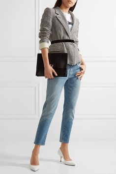 J Brand - Sadey Cropped Slim Boyfriend Jeans - Mid denim - 32