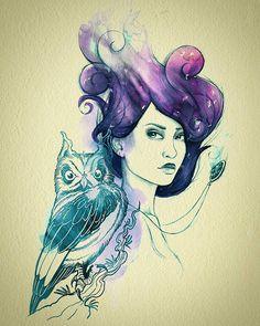 "#ghdcandy #violet ""Under The Violet Sky"" by Nanda Correa"