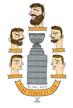 Being able to tell how well your team is doing in the playoffs by their beard length.