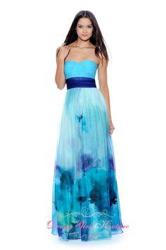 Decode 1.8 181983 blue-multi #FlowerySkirt #promdresses2013 design by Decode 1.8