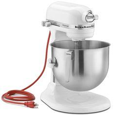 KitchenAid KSM7990WH 7-Quart Bowl-Lift Mixer, White Stand Mixers - BakeDeco.Com